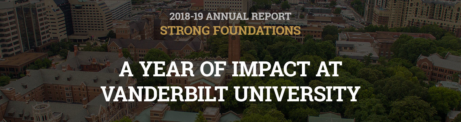 Strong Foundations:  A Year of Impact at Vanderbilt University