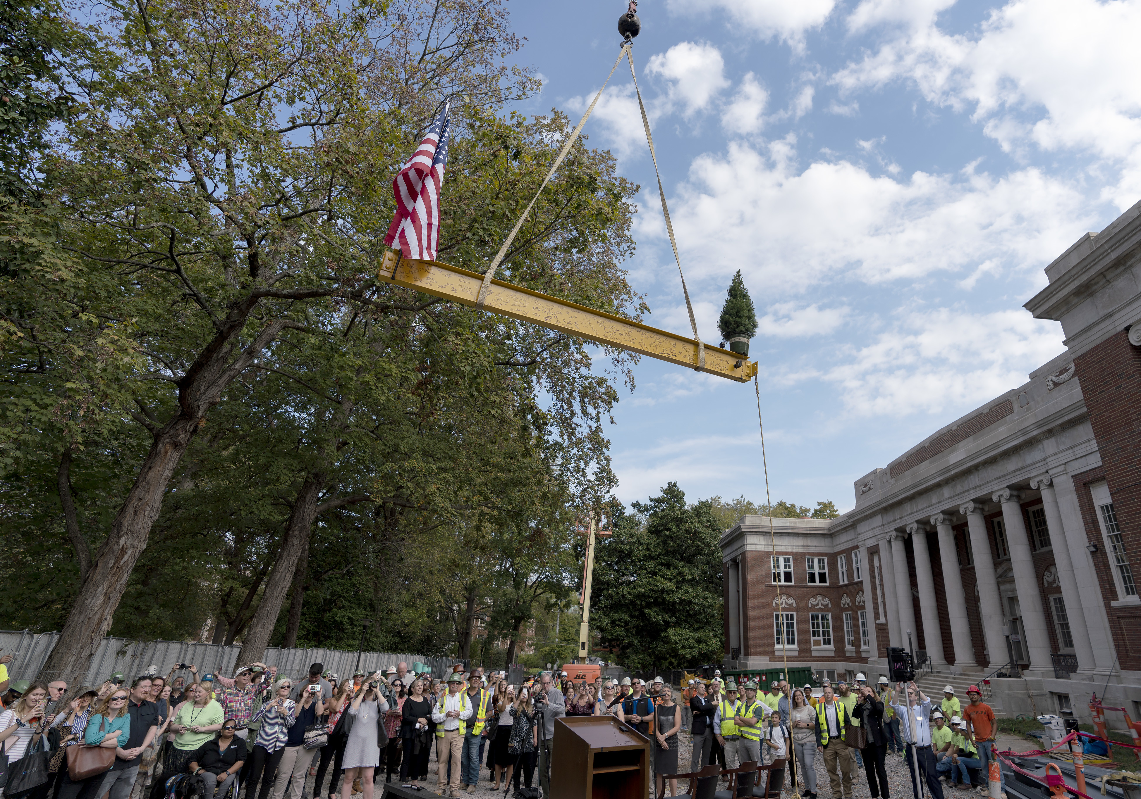 Topping Out Ceremony of the Connector Building | Peabody Neighborhood