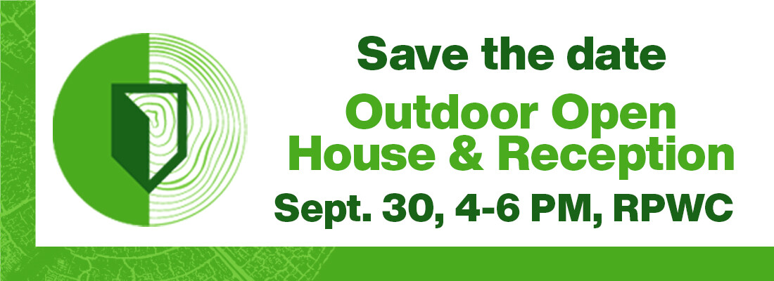 Save the date Outdoor Open House and Reception September 30 4 to 6 PM at the RPWC