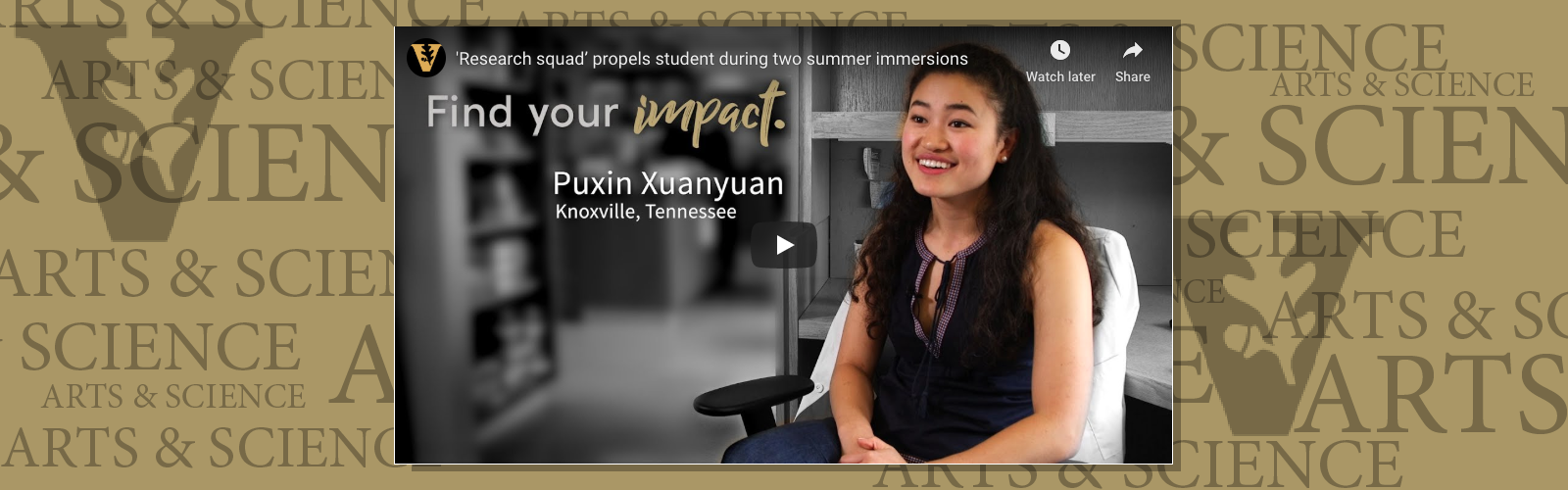 Puxin Xuanyuan: Chemistry major says creativity is key