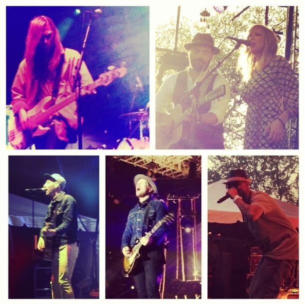 Day 2's picstitch, featuring Delta Spirit, Drew & Ellie Holcomb, Juvenile, Bear Rinehart of NEEDTOBREATHE, and Mat Kearney.