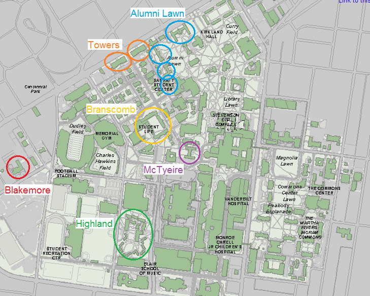 map   Inside \'Dores   Vanderbilt University