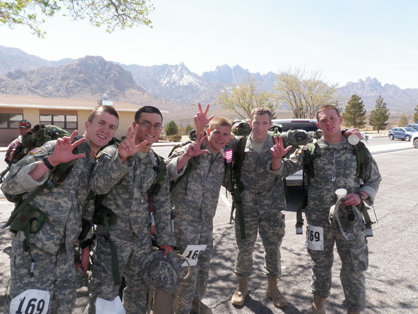 The Vandy Army ROTC Heavy Team after the march.