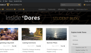 New to Inside 'Dores Student Blog? So am I!
