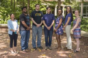 Chemistry graduate students in lab.(John Russell/Vanderbilt University)
