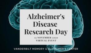 2nd Annual Vanderbilt Alzheimer's Research Day: Friday, November 13