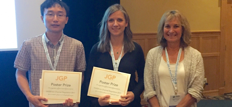 "Xiaohan won the award for ""Best Student Poster"" at the recent FASEB Ion Channels meeting in Steamboat Springs, Colorado"