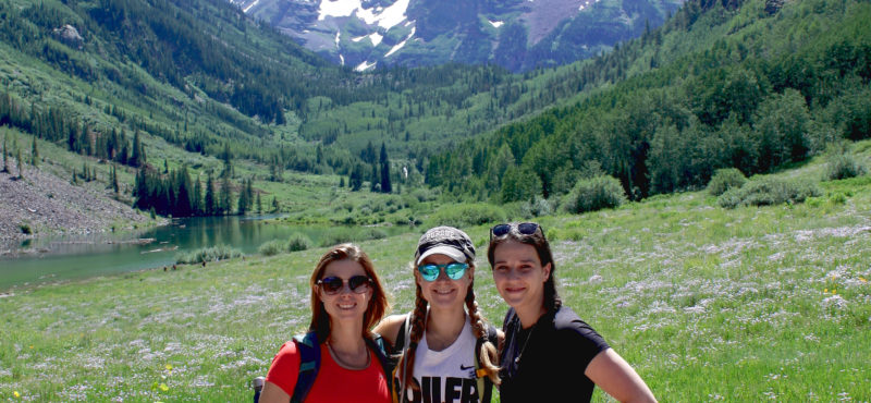 Kristy, Monica, and Hillary explore Maroon Bells during the  2019 Heme Malignancies Conference in Snowmass, CO.