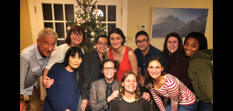 Most of the Lab Members are pictured here at the 2017 Christmas Party