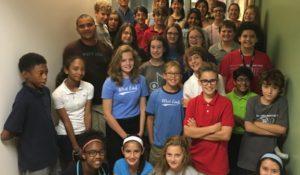 7th Graders from STEM program visit the Miller lab