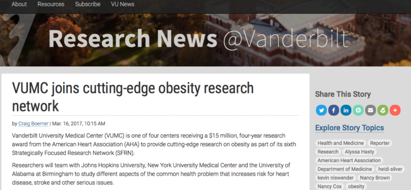 Are you curious about Obesity Research in the news?