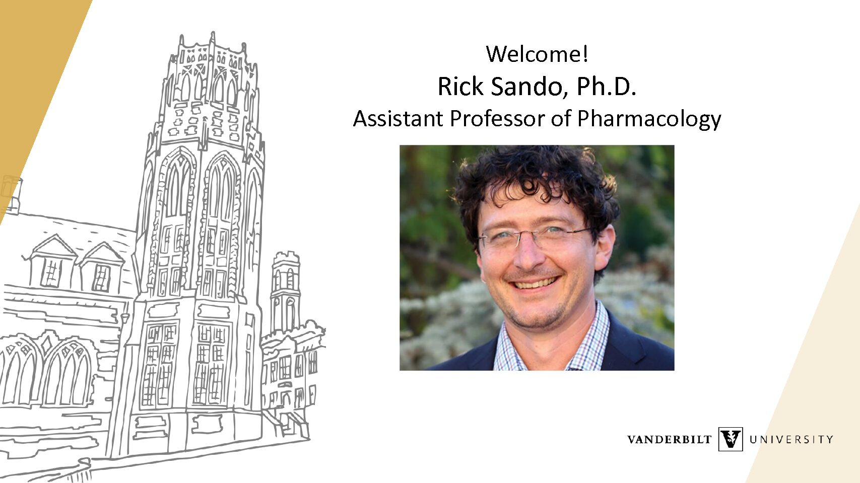 Welcome Rick Sando