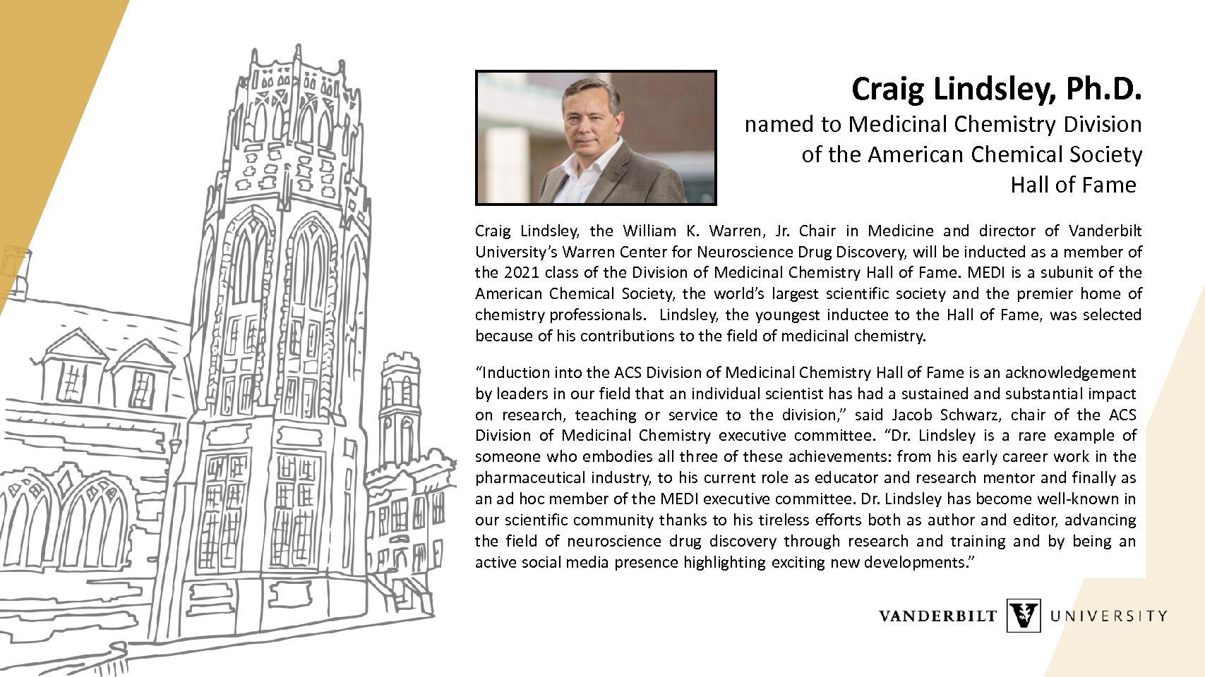 Craig Lindsley Hall of Fame 2021