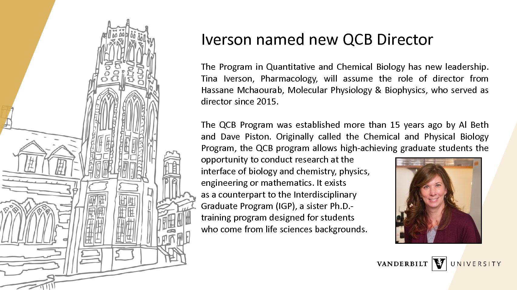 Iverson QCB Director