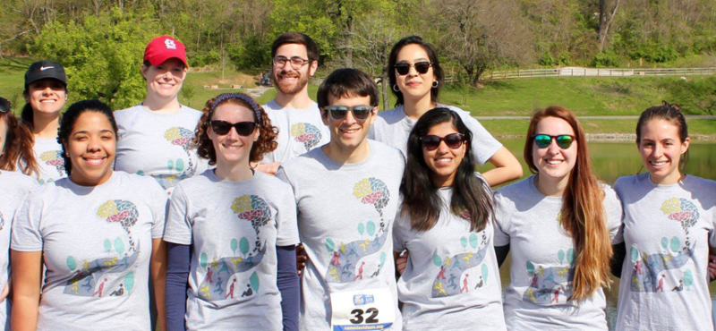 Several members of the Vanderbilt Brain Institute participated in the National Alliance on Mental Illness (NAMI) annual walk on April 7, 2018.