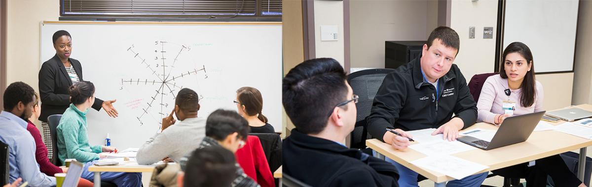 Maya Yiadom, MD, MPH, MSCI '18 leads lecture on pragmatic trials in MSCI 5044 Clinical Trials course.
