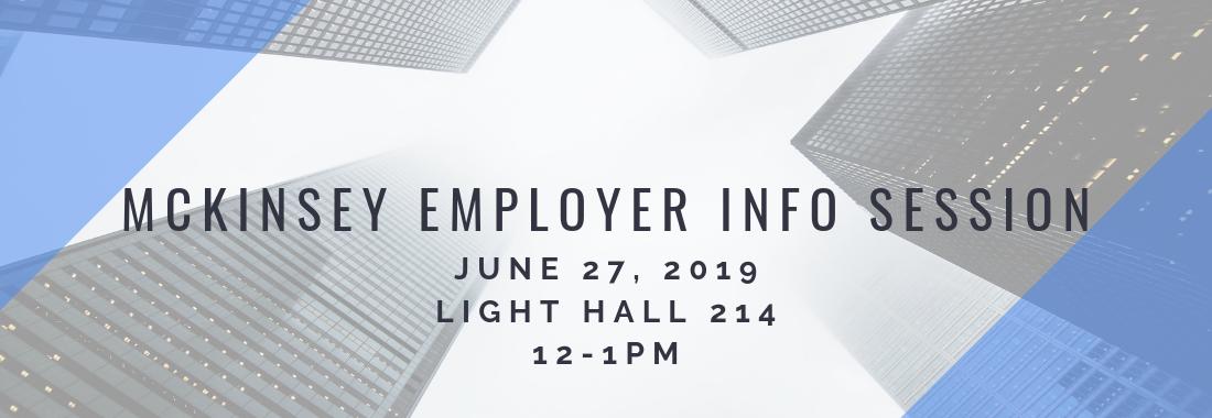 Event: McKinsey Employer Info Session