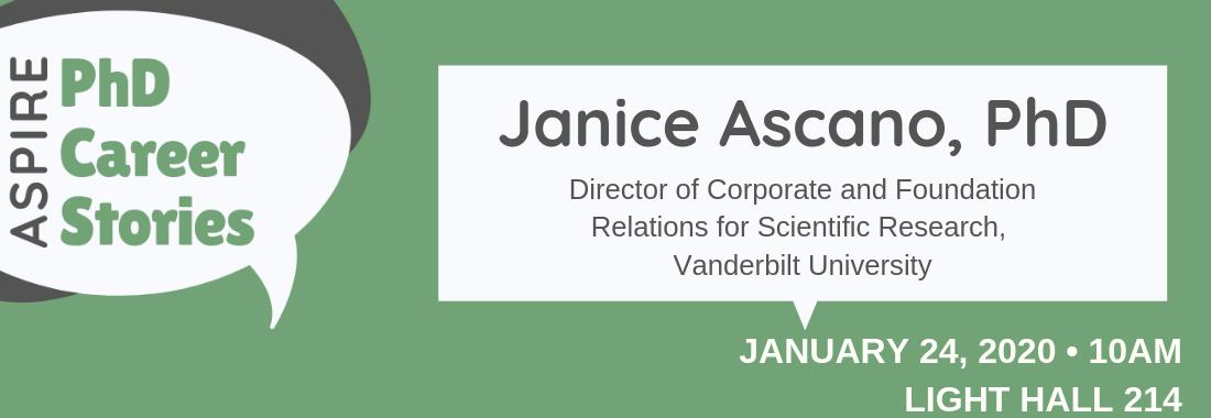 PhD Career Stories: Janice Ascano, PhD