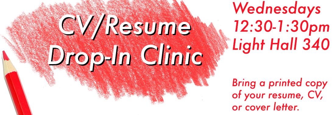 CV / Resume Drop In Clinic