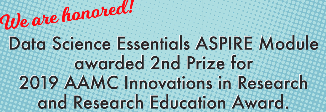 ASPIRE Module Data Science Essentials awarded AAMC 2nd Prize