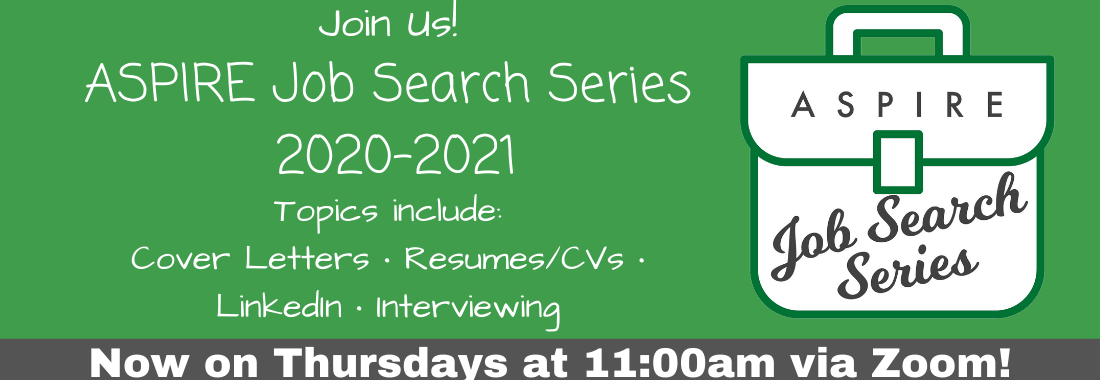 ASPIRE Job Search Series for PhD Students and Postdocs