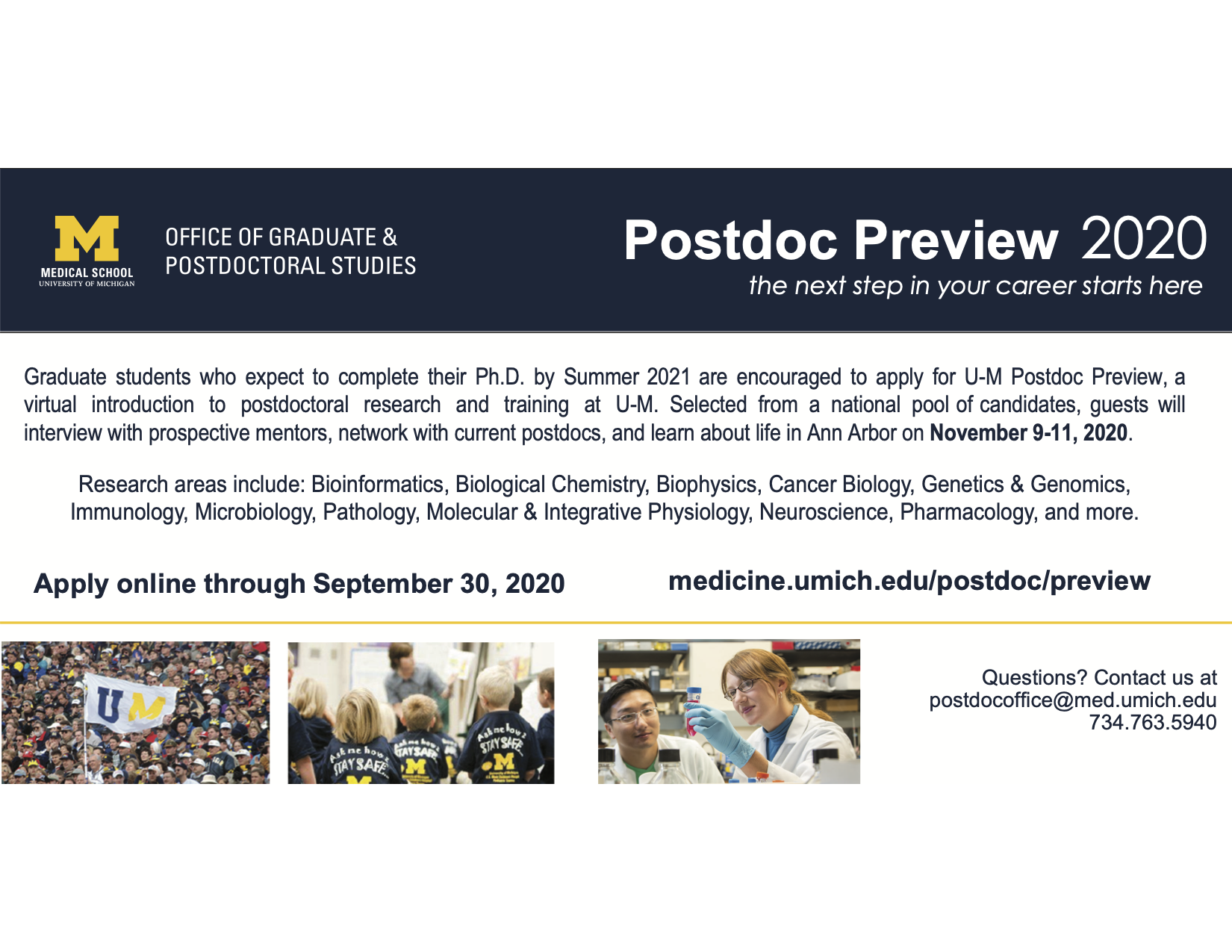 Postdoc Preview at Univ of Michigan Medical School | BRET Career  Development ASPIRE Program | Vanderbilt University