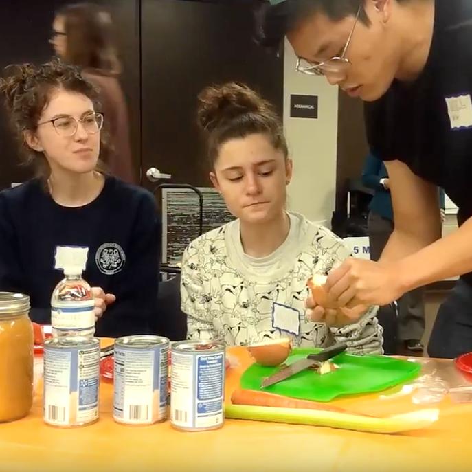 Pop-up teaching kitchen