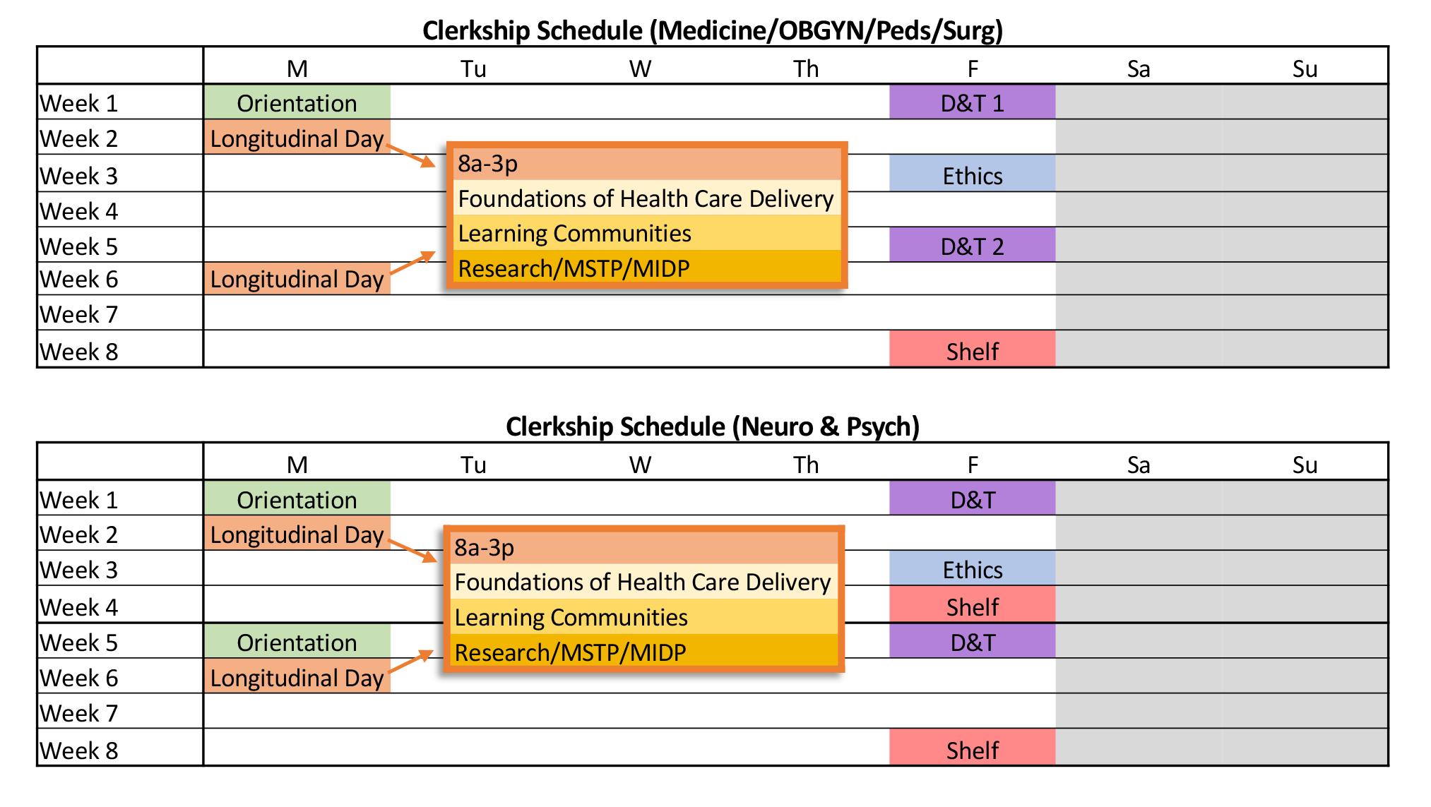 Clerkship Schedule