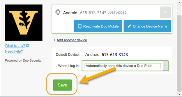 Installing and Running DUO Mobile for 2-factor Authentication