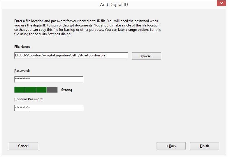 Creating an Adobe Digital Signature
