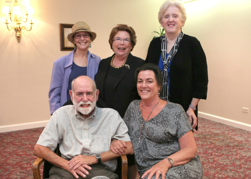 Clockwise from top left: Clare Sullivan, Linda Norman, Bonnie Pilon, Marty Conrad, Ken Wallston