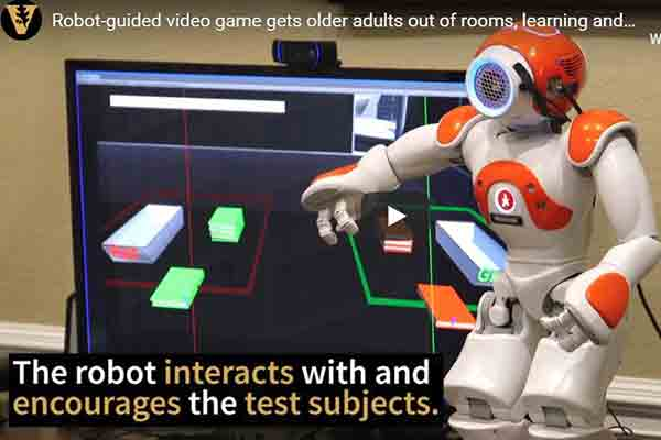 Robot-guided video game gets older adults out of comfort zone, learning and working together