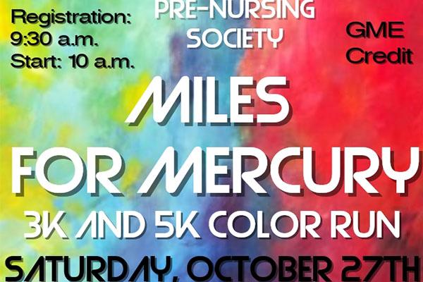Miles for Mercury Color Run Saturday