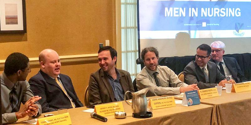 men in nursing panel