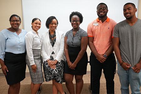 Shauna Potts, Leigha Mills, Program director Tamika Hudson, D'Asia Holloway Jalen Robinson, Jordan Malone.