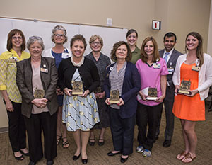 2018 VUSN Faculty and Staff winners with awards