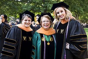 Desiree Clement, Dean Linda Norman, Kelli Wray