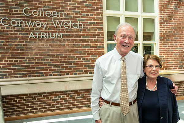Frank Bumstead, Linda Norman in new Colleen Conway-Welch Atrium
