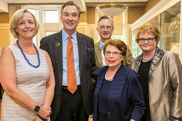 Provost Susan Wente, Roy Simpson, William Johnson, Dean Linda Norman, Betsy Weiner