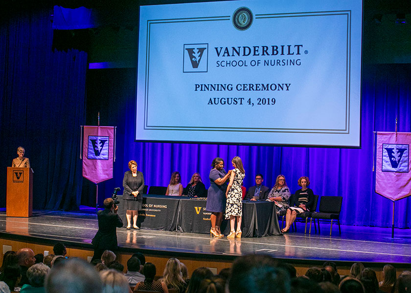 VUSN faculty watch as student is pinned