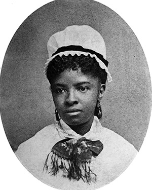 Black and white old photo of African American Nurse Mary Eliza Mahoney