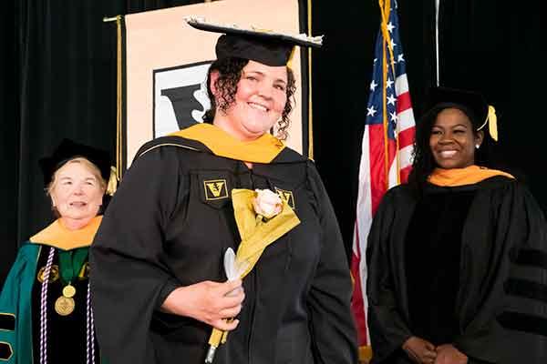 Dean Norman, FNP graduate Carol Yoder & Courtney Pitts
