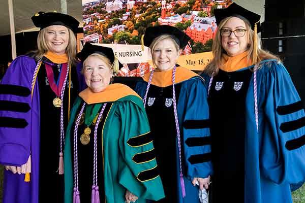Faculty Jennifer Kim, Dean Linda Norman, Melissa Smith, Leslie Hopkins