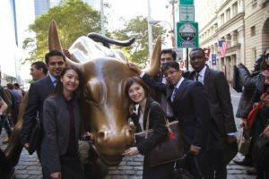Vanderbilt MBA students experience immersion experiences like Wall Street Week.