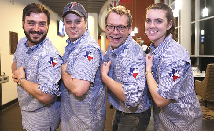 Vanderbilt MBA Texas Club members show their pride.