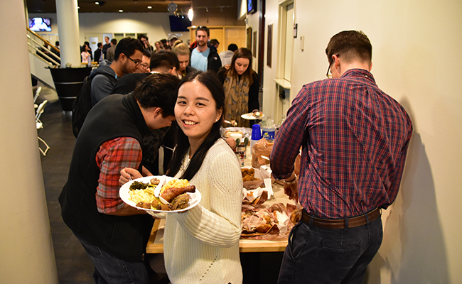 Vanderbilt MBA students celebrate all nations and cultures at our annual Thanksgiving Day celebration.