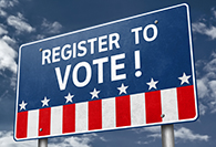 Register to Vote - roadsign information