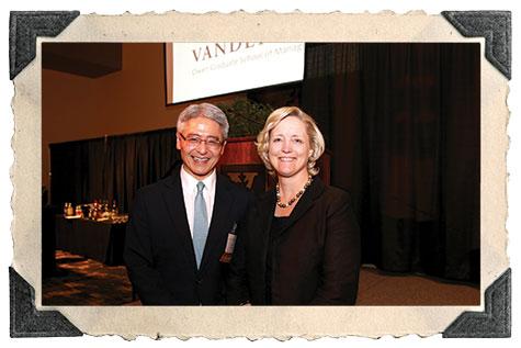 Heiki Miki, MBA'96, with Vanderbilt Provost Susan Wente.