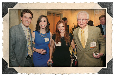 Hank Ingram, Rachel Tunick and Caitlyn Cox, ENG '11, all rising second-year students, with Germain Boer, professor of accounting, emeritus