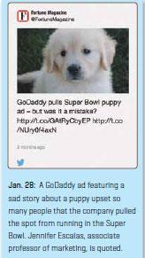 GoDaddy ad story